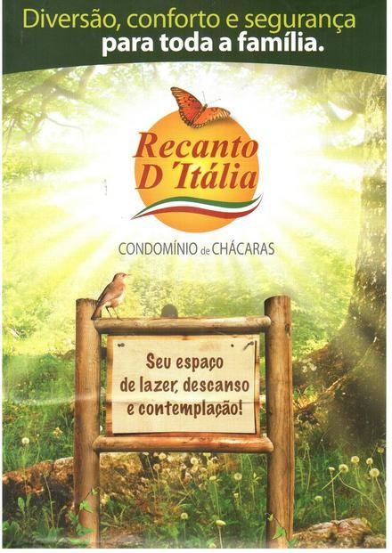 Chácara à venda em Condominio De Chacaras Recanto D'italia, Santo Antonio De Goias - GO